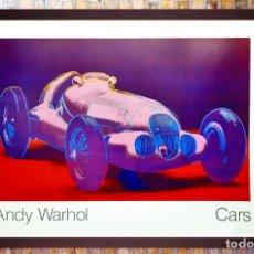 Arte: CARTEL ANDY WARHOL.CARS.MERCEDES BENZ FORMEL RENNWAGEN W 125. 1937-1986.ACHENBACH ART EDITION GALER. Lote 232750250