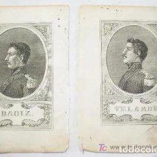 Arte: PAREJA DE GRABADOS DE DAOIZ Y VELARDE[ S.19 ]. Lote 233142985