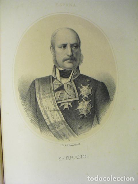 SIGLO XIX LITOGRAFÍA DEL GENERAL SERRANO (Arte - Litografías)