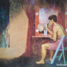 Arte: ENRIC MAJÓ: ACTOR SE MAQUILLA JUNTO A UN ESCENARIO. 82 X 63 CM. 90/500. Lote 233354945