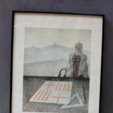 Arte: JOSEP MARIA SUBIRACHS, CHIMENEAS PEDRERA, TIBIDABO, GRABADO, 1988, BON À TIRER, CON DEDICATORIA.. Lote 233514930