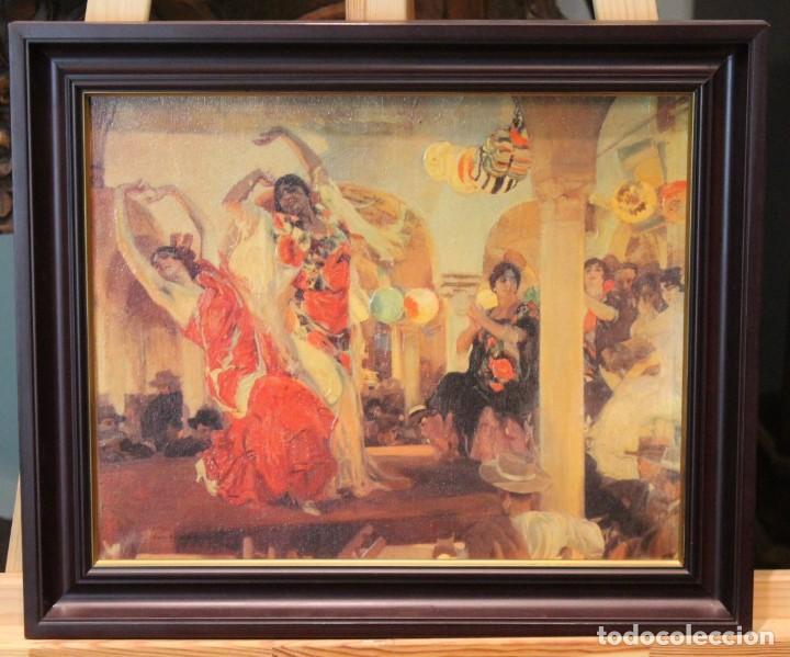 BAILE EN EL CAFÉ NOVEDADES DE SEVILLA 1914 DE JOAQUÍN SOROLLA Y BASTIDA, REPRODUCCIÓN (Arte - Litografías)