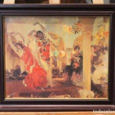 Arte: BAILE EN EL CAFÉ NOVEDADES DE SEVILLA 1914 DE JOAQUÍN SOROLLA Y BASTIDA, REPRODUCCIÓN. Lote 233717195