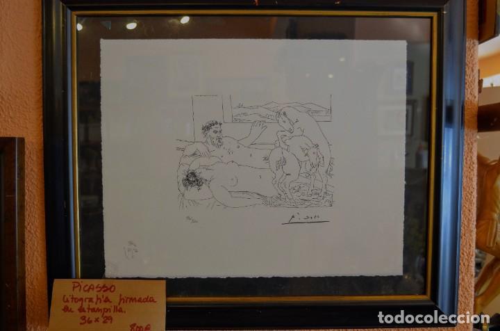 Arte: Litografía Picasso. Firmada - Foto 3 - 234116705