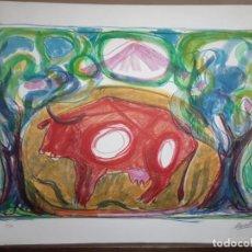 """Arte: MARAGALL, JORDI. """"VACA"""" LITOGRAFÍA ORIGINAL FIRMADA Y NUMERADA. SIN PRECIO DE RESERVA. Lote 234312010"""