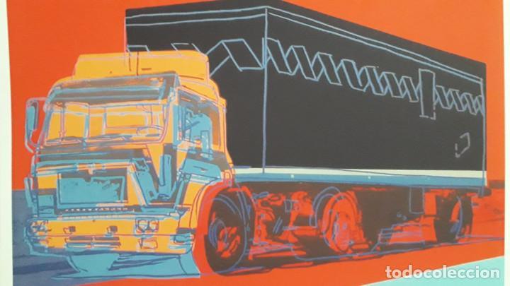 Arte: Litografia de Andy Warhol, Camion,numerado a lapiz,con firma y marca de agua,57x38 cms - Foto 3 - 234442235