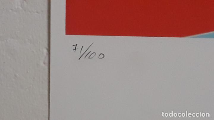 Arte: Litografia de Andy Warhol, Camion,numerado a lapiz,con firma y marca de agua,57x38 cms - Foto 5 - 234442235