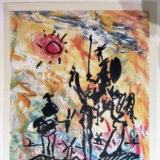 Arte: PABLO PICASSO FIRMADO/NUMERADO MANO EDICION LTD.300 -DON QUIJOTE- IMPRESIÓN LITOGRÁFIC 43,18 X 33 CM. Lote 235001380