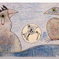 Arte: MAX ERNST - PÁJAROS - LITOGRAFÍA FIRMADA EN PLANCHA - ED. POLÍGRAFA - 1970 - 1.500 EJEMPLARES. Lote 235172040