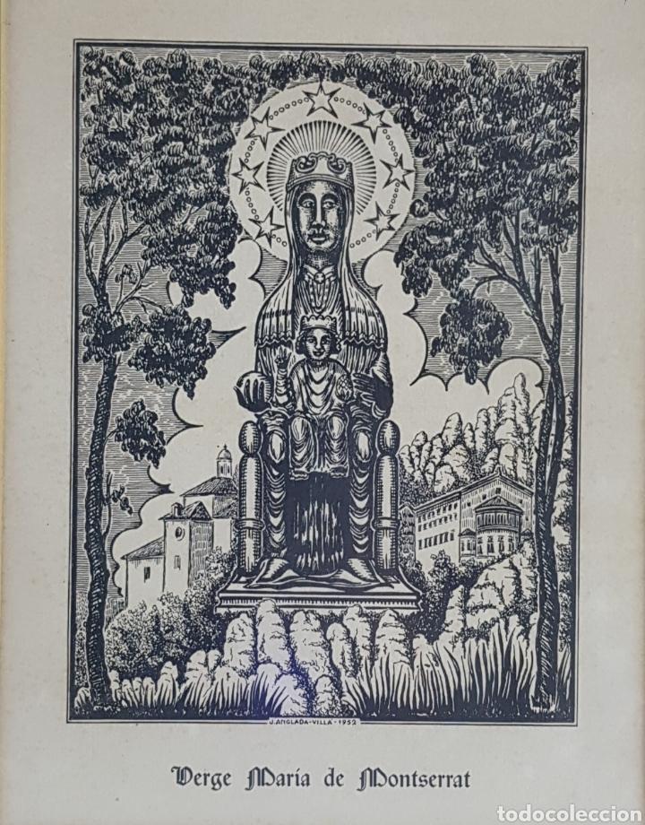 VIRGEN DE MONTSERRAT POR JOAN ANGLADA VILLA (Arte - Litografías)