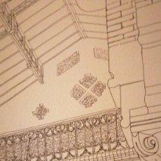 "Arte: LITOGRAFIA ""CASA DE LA MATERNITAT"" DE AURORA ALTISENT (56*74). Lote 235692715"