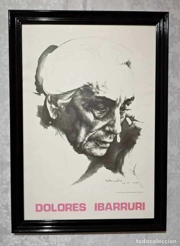 Arte: Retrato de Dolores Ibárruri, Pasionaria, por Rolando Campos.1977 - Foto 2 - 235855995