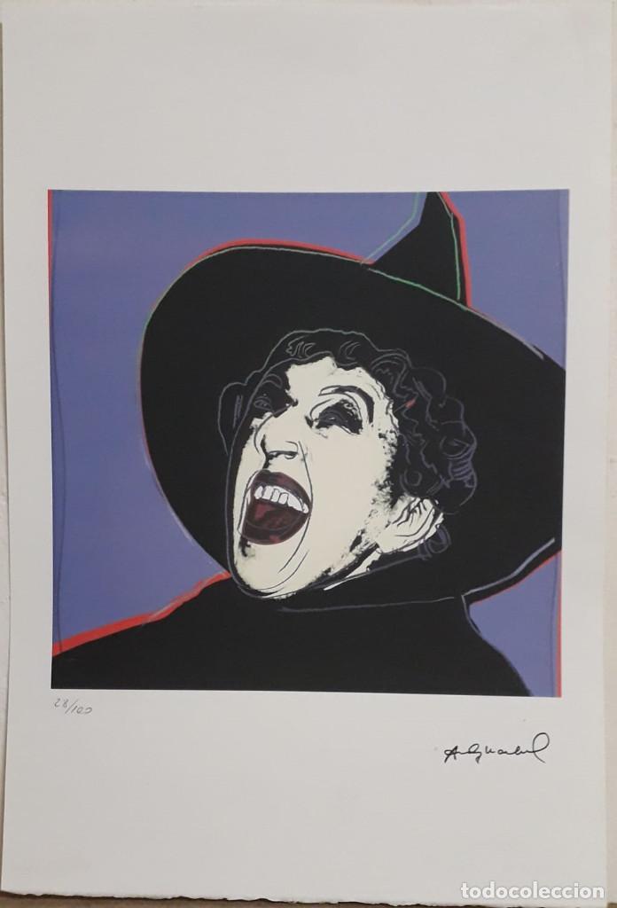 LITOGRAFÍA ANDY WARHOL FIRMADA Y NUMERADA ,POP ART, 28/100 ,GRAN TAMAÑO 57 X 38 CMS (Arte - Litografías)