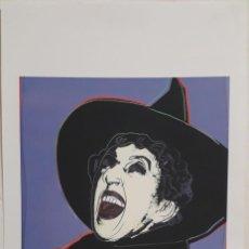 Arte: LITOGRAFÍA ANDY WARHOL FIRMADA Y NUMERADA ,POP ART, 28/100 ,GRAN TAMAÑO 57 X 38 CMS. Lote 235960460