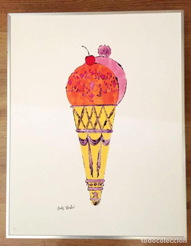 Arte: Andy Warhol Dos litografías enmarcadas Helados - Foto 4 - 236118735