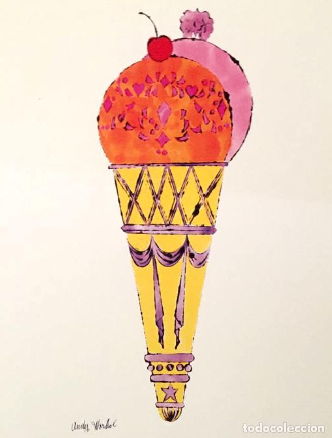 Arte: Andy Warhol Dos litografías enmarcadas Helados - Foto 9 - 236118735