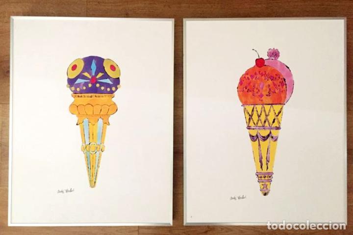 Arte: Andy Warhol Dos litografías enmarcadas Helados - Foto 13 - 236118735