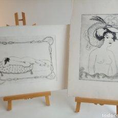 Arte: LOTE DOS LITOGRAFÍAS DE CARMEN MUÑOZ.. Lote 236202815