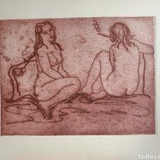 Arte: LITOGRAFÍA DE CARMEN MUÑOZ. Lote 236204955