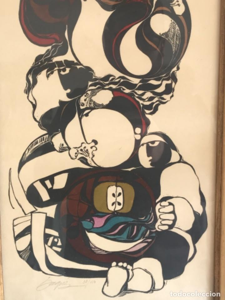 Arte: LITOGRAFÍA DE BAQUÉS FIRMADA Y NUMERADA A LÁPIZ. 38/150. - Foto 3 - 236696030