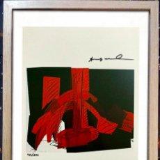 Arte: ANDY WARHOL 1986 IMPRESIÓN ORIGINAL, MANO FIRMADA CON CERTIFICADO DE AUTENTICIDAD EDICION DE 200 TAM. Lote 237953110