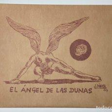 """Arte: CARPETA 4 LITOGRAFÍAS PEPE DAMASO """"EL ANGEL DE LAS DUNAS"""" FIRMADAS A LÁPIZ. EXCLUSIVA S.R.M. EL REY.. Lote 238499100"""
