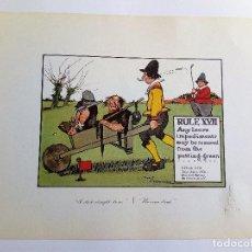 Arte: RULES OF GOLF / LAS REGLAS DEL GOLF - LITOGRAFÍA DE CHARLES CROMBIE. Lote 240014650