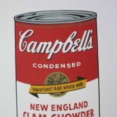 Arte: IMPRESIÓN CALIDAD LITOGRÁFICA ANDY WARHOL (AFTER) CAMPBELL'S SOUP. Lote 241194545