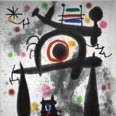 Arte: JOAN MIRÓ - LITOGRAFÍA - LE MIROIR DE L'HOMME PAR LES BÊTES (1971). Lote 241910000