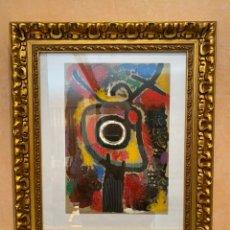 """Arte: JOAN MIRÓ POCHOIR COLOREADO POR DANIEL JACOMET TITULO """"PERSONNAGE ET OISSEU"""" EDICIÓN LIMITADA 75 EJ.. Lote 226453045"""