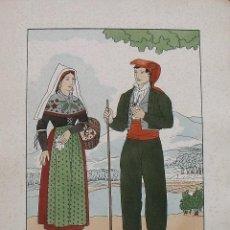 Arte: JOAN D'IVORI. VESTITS TÍPICS DE CATALUNYA. GIRONA. MITJANS SEGLE XIX. ORBIS. 1935. COLOREADA A MANO.. Lote 242112690