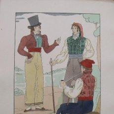 Arte: JOAN D'IVORI. VESTITS TÍPICS DE CATALUNYA. BARCELONA. ANY 1810. ORBIS. 1935. COLOREADA A MANO.. Lote 242113725