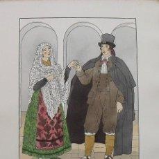 Arte: JOAN D'IVORI. VESTITS TÍPICS DE CATALUNYA. CASTELLTERÇOL. SEGLE XIX. ORBIS. 1935. COLOREADA MANO.. Lote 242114755