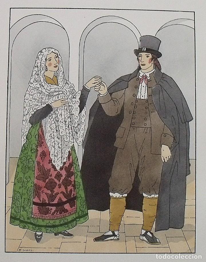 Arte: Joan dIvori. Vestits típics de Catalunya. Castellterçol. Segle XIX. Orbis. 1935. Coloreada mano. - Foto 2 - 242114755