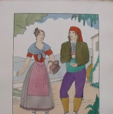 Arte: JOAN D'IVORI. VESTITS TÍPICS DE CATALUNYA. BARCELONA. SEGLE XIX. ORBIS. 1935. COLOREADA MANO.. Lote 242114915