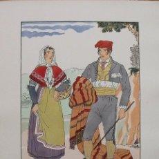 Arte: JOAN D'IVORI. VESTITS TÍPICS DE CATALUNYA. BARCELONA. SEGLE XIX. ORBIS. 1935. COLOREADA MANO.. Lote 242115020