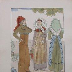 Arte: JOAN D'IVORI. VESTITS TÍPICS DE CATALUNYA. BARCELONA. VALLÈS. SEGLE XIX. ORBIS. 1935. COLOREADA MANO. Lote 242115175