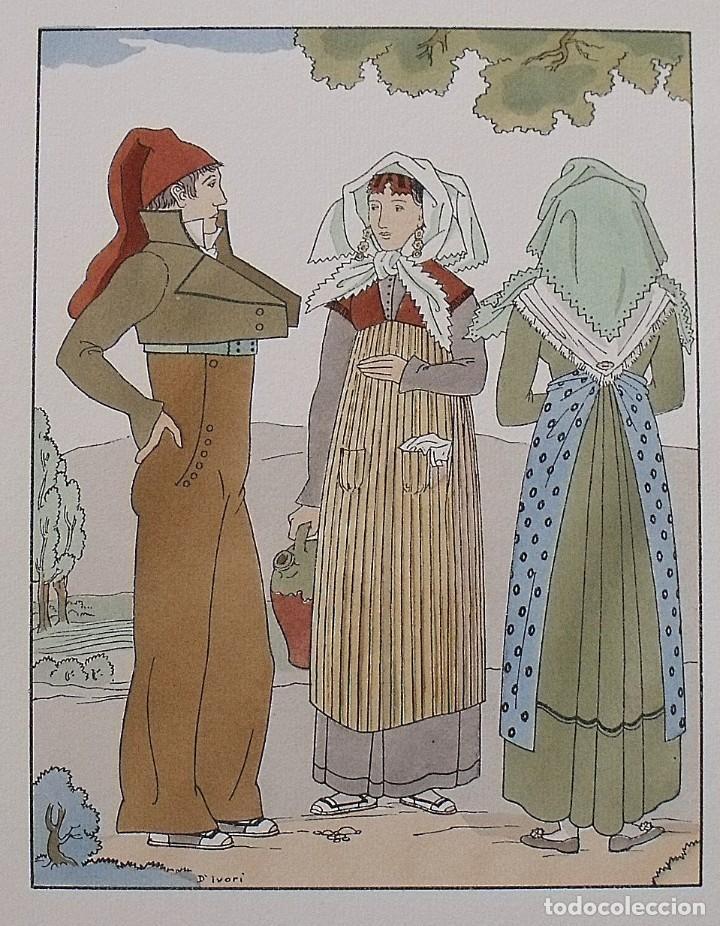 Arte: Joan dIvori. Vestits típics de Catalunya. Barcelona. Vallès. Segle XIX. Orbis. 1935. Coloreada mano - Foto 2 - 242115175