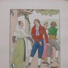 Arte: JOAN D'IVORI. VESTITS TÍPICS DE CATALUNYA. BARCELONA. SEGLE XIX. ORBIS. 1935. COLOREADA MANO. Lote 242115560