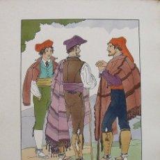 Arte: JOAN D'IVORI. VESTITS TÍPICS DE CATALUNYA. BARCELONA. ANY 1854. ORBIS. 1935. COLOREADA MANO. Lote 242115835