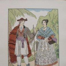 Arte: JOAN D'IVORI. VESTITS TÍPICS DE VALÈNCIA. ALACANT. ALICANTE. SEGLE XIX. ORBIS. 1935. COLOREADA MANO.. Lote 242116875
