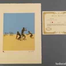 Arte: BANKSY, EDICIÓN LIMITADA CERTIFICADO (PICASSO BANKSY MIRÓ WARHOL HARING). Lote 242483425