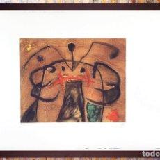 Arte: JOAN MIRÓ. LITOGRAFIA EDICIÒN LIMITADA N 61 DE150 COPIAS, FIRMADA Y NUMERADA A LAPIZ.TAMAÑO 78X57 CM. Lote 243062640