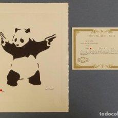 Arte: BANKSY, EDICIÓN LIMITADA CERTIFICADO (PICASSO BANKSY MIRÓ WARHOL HARING). Lote 243068110