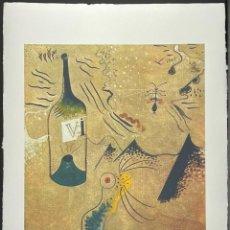 Arte: JOAN MIRÓ - LITOGRAFÍA EDICION LIMITADA 150 Nº 83,FIRMADA Y NUEMRADA A LAPIZ-TAMAÑO 78 X 57 CM. Lote 243079235
