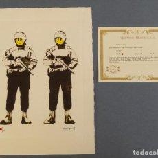 Arte: BANKSY, EDICIÓN LIMITADA CERTIFICADO (PICASSO BANKSY MIRÓ WARHOL HARING). Lote 243349510
