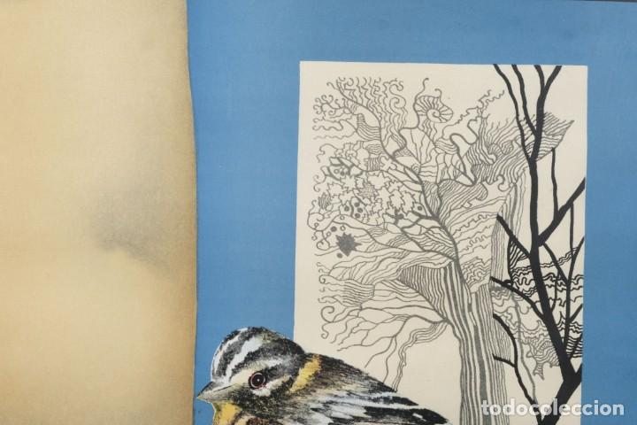 Arte: Litografía Torso femenino y pájaro firma ilegible a lápiz - Foto 3 - 243665580