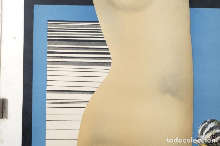 Arte: Litografía Torso femenino y pájaro firma ilegible a lápiz - Foto 4 - 243665580