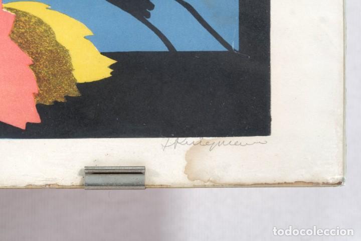 Arte: Litografía Torso femenino y pájaro firma ilegible a lápiz - Foto 5 - 243665580
