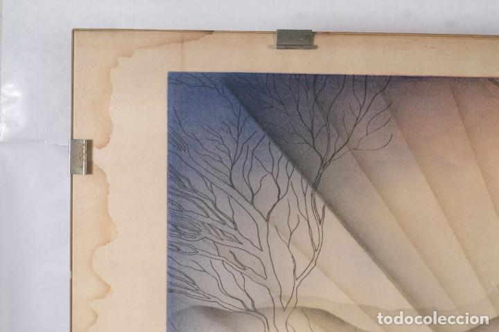Arte: Litografía Torso Desnudos femeninos y paisaje firma ilegible a lápiz - Foto 4 - 243674915